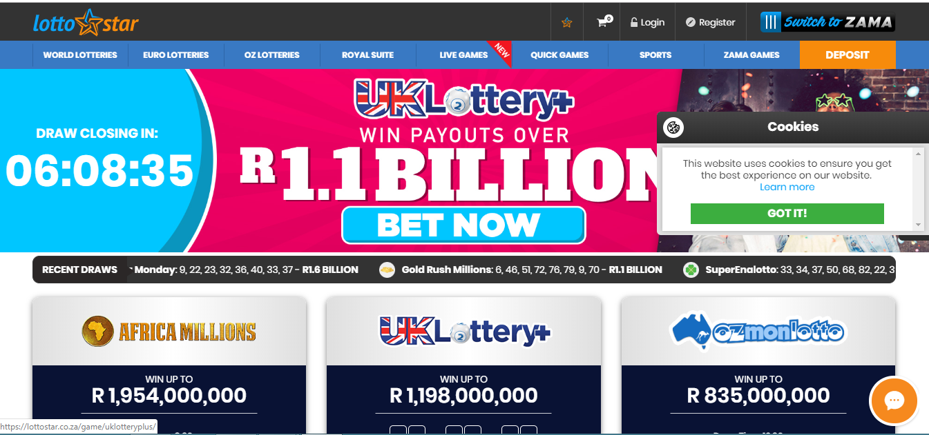 Withdraw Money from Lotto Star
