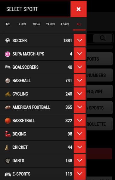 sports on Supabets