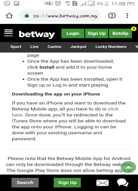 Visit the Apple store or the Betway website